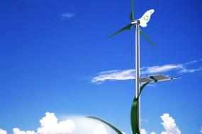 ไฟฟ้าส่องถนนพลังงานร่วม (Wind and Solar hybrid street light)